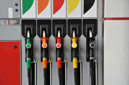 automatic dispensing column of automobile fuel at a gas station. Transport