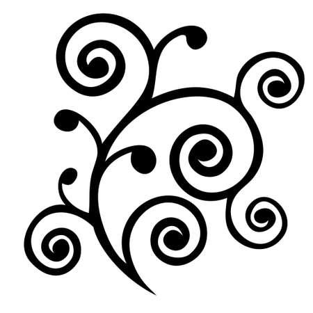 Vintage design element curl design.