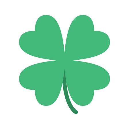 Illustration pour Saint Patrick lucky irish day green clover symbol. Vector illustration - image libre de droit