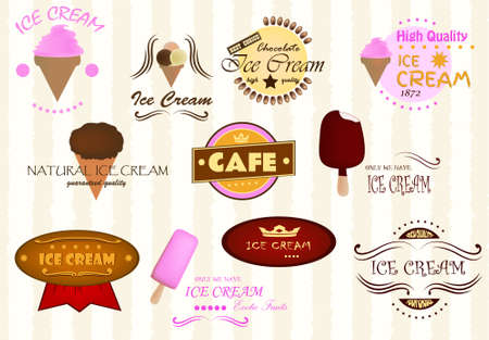 Labels of ice cream