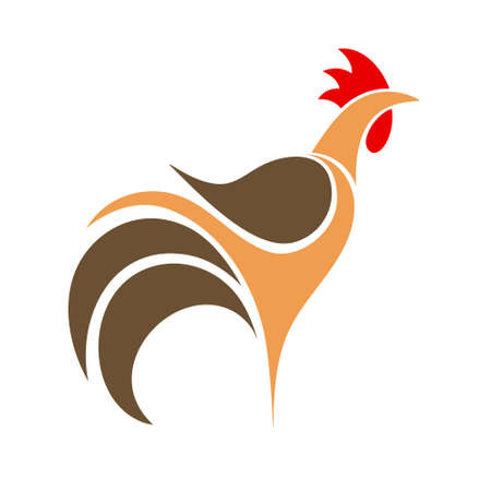 Illustration pour Cock. Logo - image libre de droit