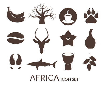Africa. Icon set