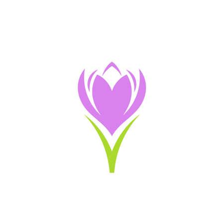 Illustration pour Purple flower isolated on white - image libre de droit