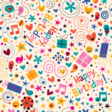 Illustration for Happy Birthday pattern - Royalty Free Image