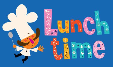 Vektor für Lunch time - Lizenzfreies Bild