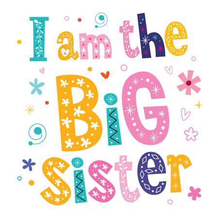 Illustration for I am the big sister - Royalty Free Image