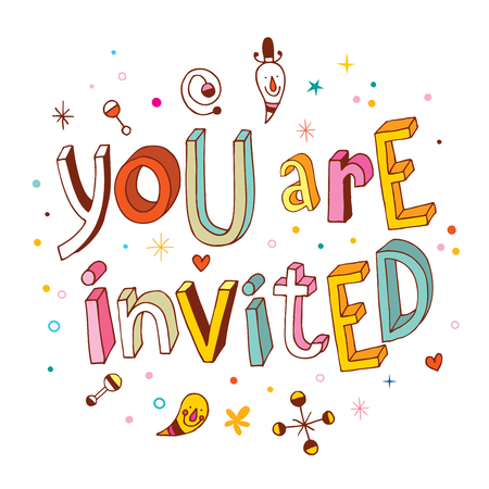 Illustration for You are invited - Royalty Free Image