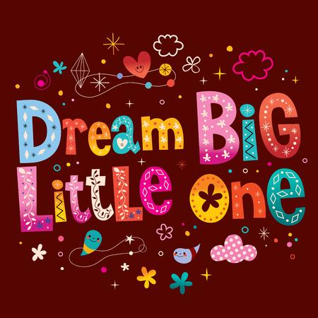 Dream big little one - kids nursery art