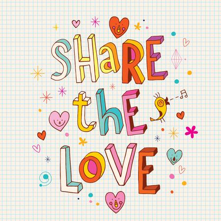 Illustration pour Share the love - image libre de droit