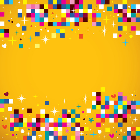 Illustration for fun pixel squares background design element - Royalty Free Image