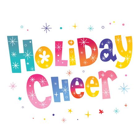Ilustración de Holiday cheer festive banner - Imagen libre de derechos