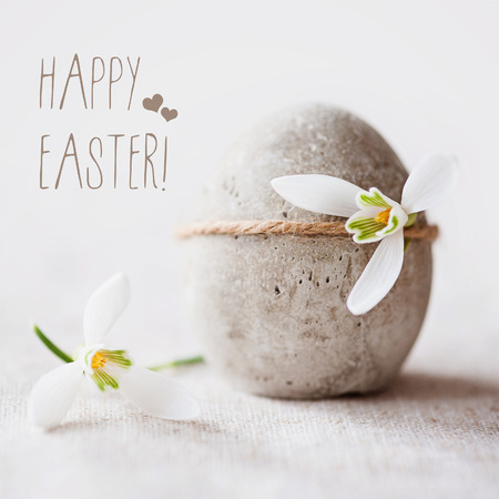 Photo for Concrete Easter greeting - Royalty Free Image