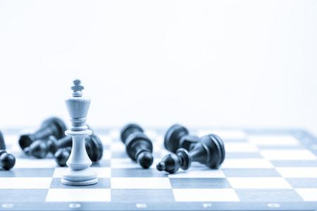 Photo pour Chess figure, business concept strategy, leadership, team and success - image libre de droit