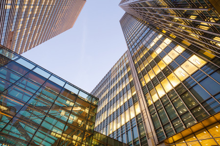 Foto de Business Office, Corporate building London City, England - Imagen libre de derechos
