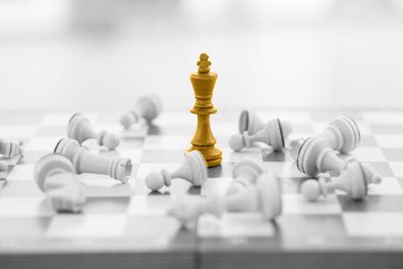 Foto de Chess business concept, leader & success - Imagen libre de derechos