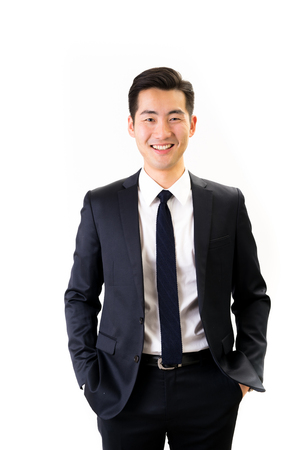 Photo for Young Asian businessman white background - Royalty Free Image