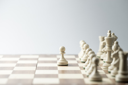 Photo pour Chess figure, business concept strategy, leadership, team and success - image libre de droit