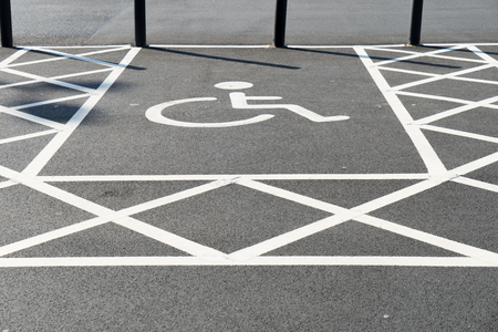 Handicap disabled sign for parking