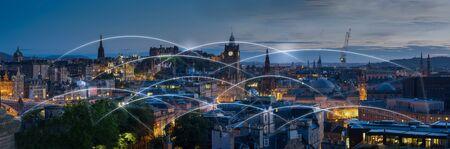 Photo pour London and metropolitan EU Europe office building for network and future concept - image libre de droit