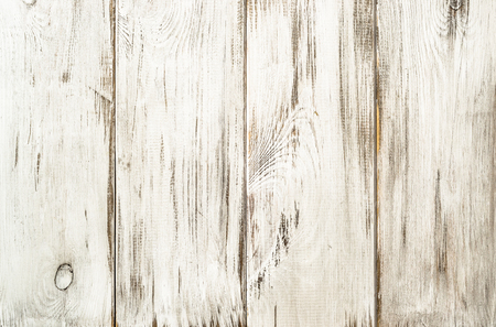 White wood background texture from wooden planks.