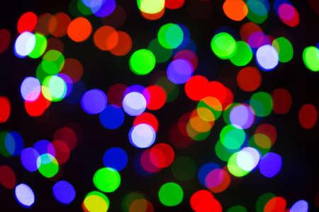 Photo pour Festive Christmas lights background. Blurred pattern - bokeh with light. - image libre de droit