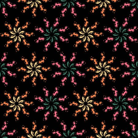 Background vector illustration seamless abstract pattern of brush strokes paint.