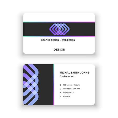 Illustration for Business card. Simple design, logo. Vector illustration. Modern minimalistic template - Royalty Free Image