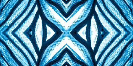 Photo pour Watercolor Strips. Aquamarine Repeat. Blue Zebra Skin Seamless. Stripes Zebra. Aqua Animal Skin Seamless Pattern. Zebra Face On. Tiger T Shirt. Stripes Grunge. - image libre de droit