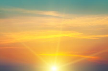 beautiful sunrise and cloudy sky