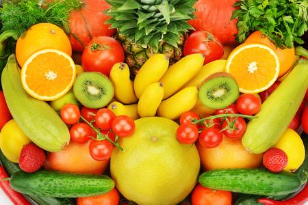 Foto für background of different fruits and vegetables - Lizenzfreies Bild