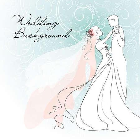 Ilustración de Wedding background  - Imagen libre de derechos