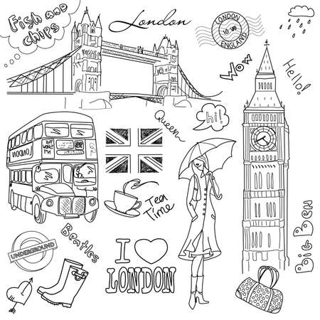 London doodles: Royalty-free vector graphics