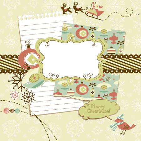 Ilustración de Cute Christmas scrapbook elements  - Imagen libre de derechos