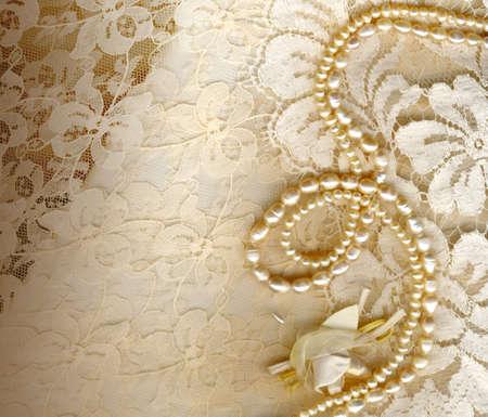 Photo pour textile wedding background - image libre de droit