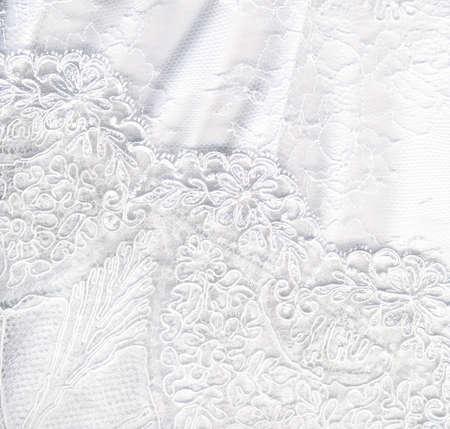 Photo pour Beautiful pure white textile wedding background - image libre de droit