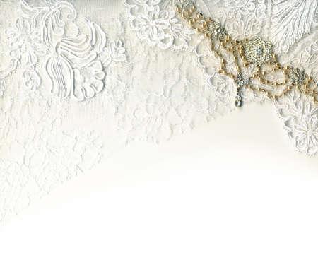Photo pour Pure white luxury wedding border - image libre de droit