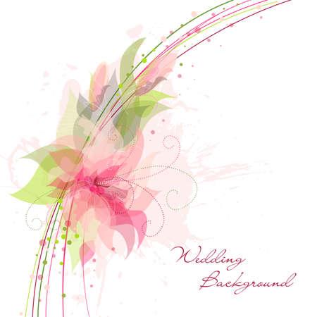 Foto de Romantic Flower Background. Ideal for as a Wedding background - Imagen libre de derechos