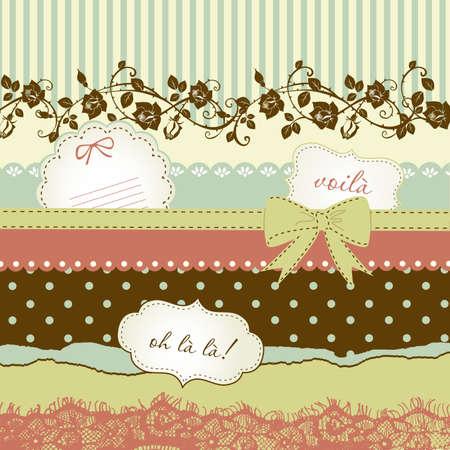 Ilustración de Cute scrapbook elements  - Imagen libre de derechos