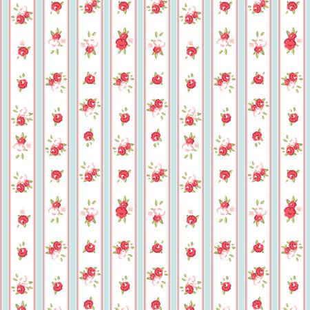 Vintage rose pattern, vector illustration