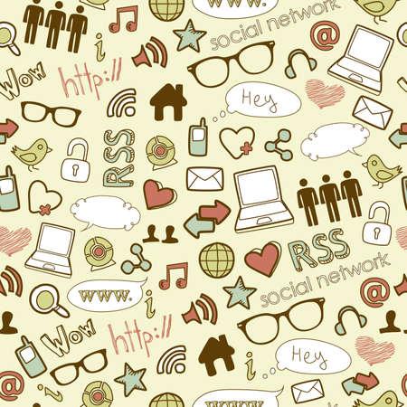 Ilustración de IT seamless background - Imagen libre de derechos