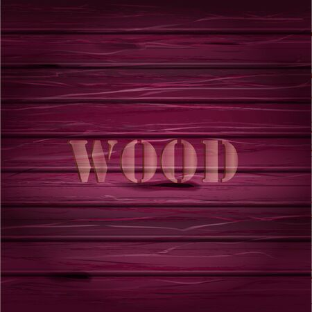 Illustration pour Pink wood texture. vector background with text illustration - image libre de droit