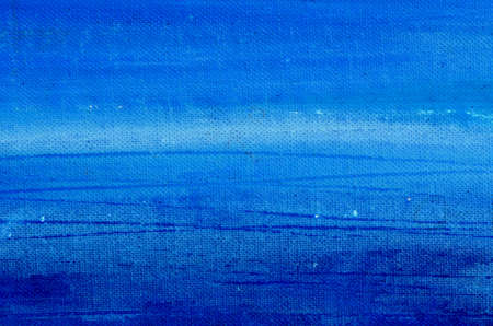 blue acrylic painted canvas background and texture