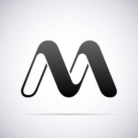 letter M design template vector illustration