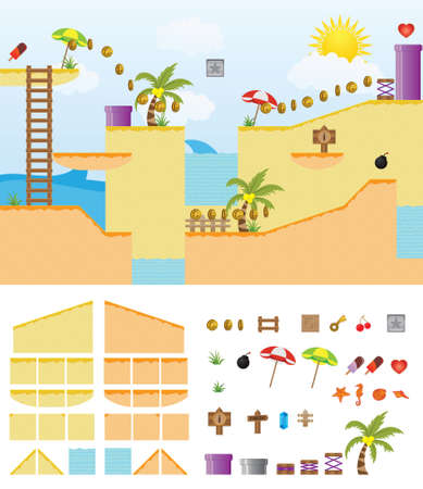 Platform Game Summer Beach