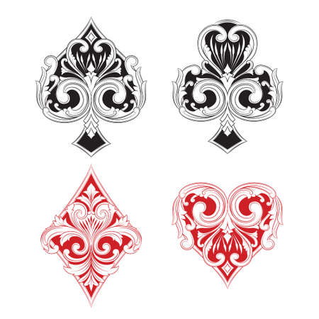 Black and Red Playing Card Vintage