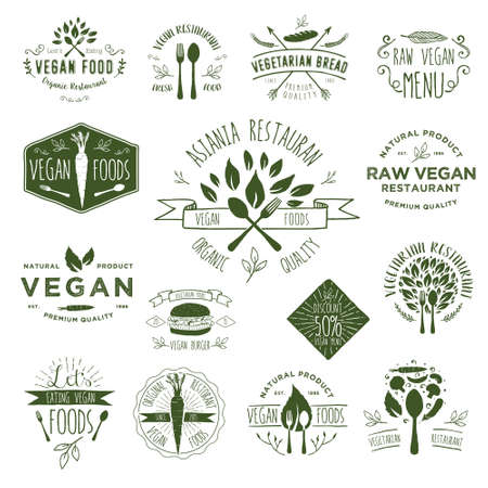 Hand Drawing Vegan Badges