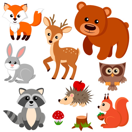 Illustration pour Forest animals. - image libre de droit