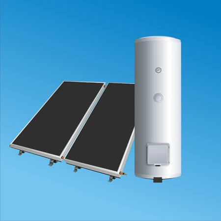 solar panels to the boiler for heating water2