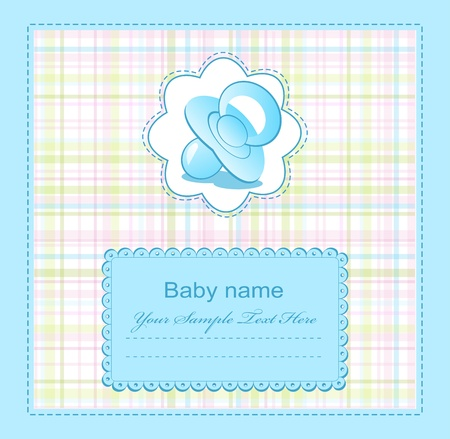 Photo for blue baby congratulations for the boy - Royalty Free Image