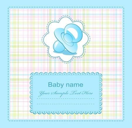 Photo pour blue baby congratulations for the boy - image libre de droit